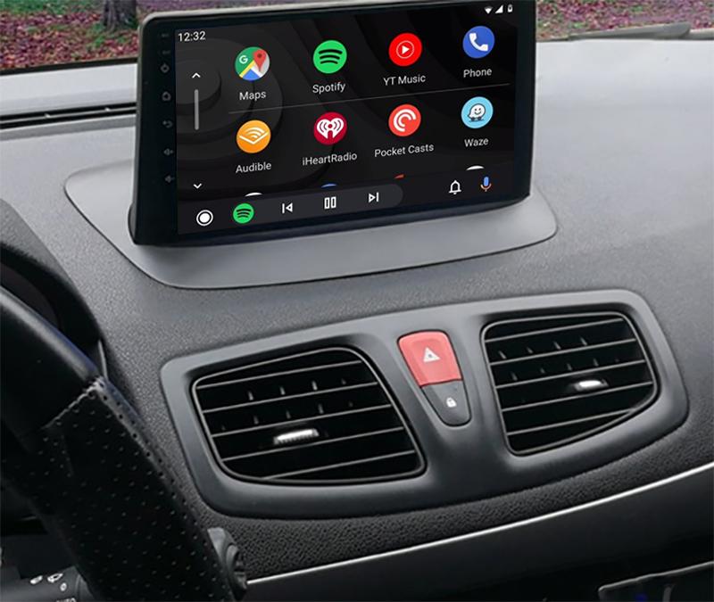 écran tactile QLED Android et Apple Carplay sans fil Renault Megane 3 de 2008 à 2016 et Fluence de 2008 à 2011