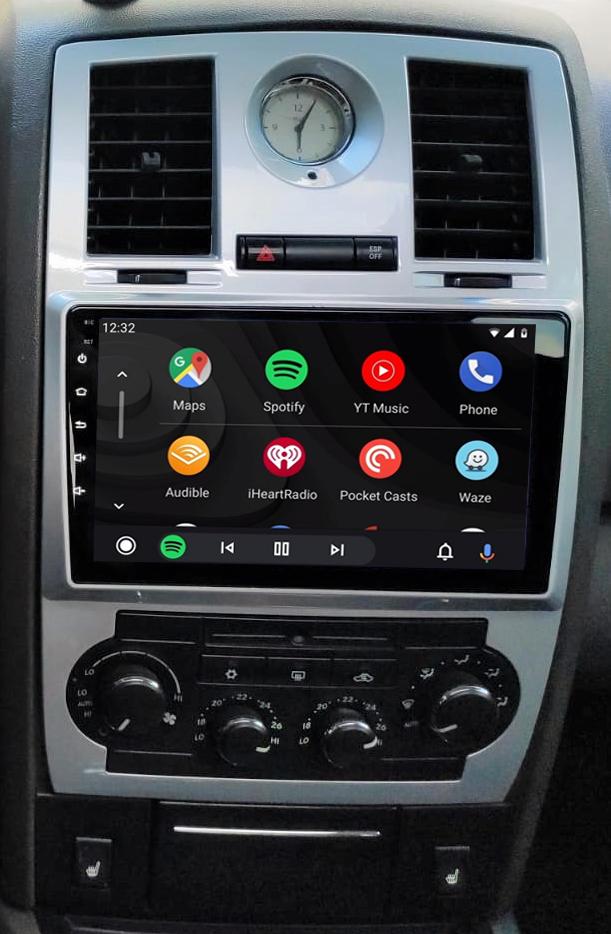 écran tactile QLED Android et Apple Carplay sans fil Chrysler 300C de 2004 à 2008