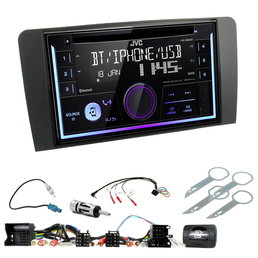 Kit d\'intégration Audi A3 de 2003 à 2012 + Autoradio multimédia USB/Bluetooth
