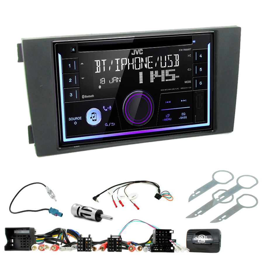 Kit d\'intégration Audi A6 de 2001 à 2005 + Autoradio multimédia USB/Bluetooth