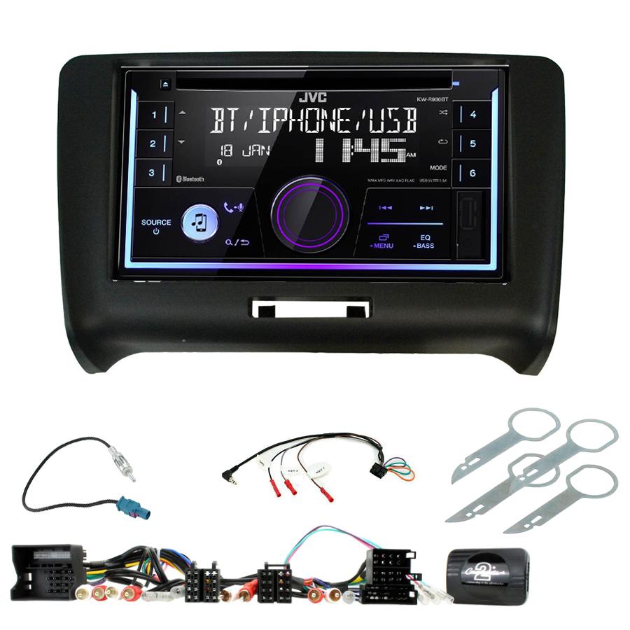 Kit d\'intégration Audi TT de 2006 à 2014 + Autoradio multimédia USB/Bluetooth
