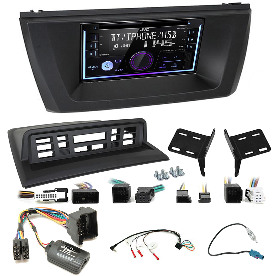 Kit d\'intégration BMW X3 de 2004 à 2010 + Autoradio multimédia USB/Bluetooth