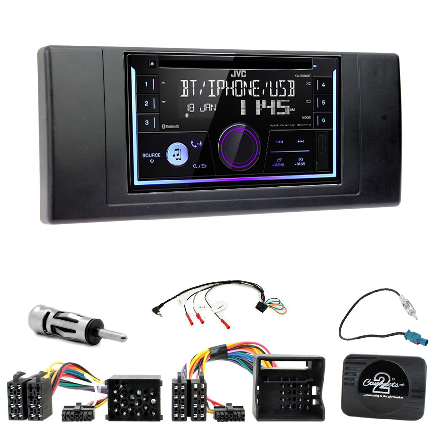 Kit d\'intégration BMW X5 E53 + Autoradio multimédia USB/Bluetooth