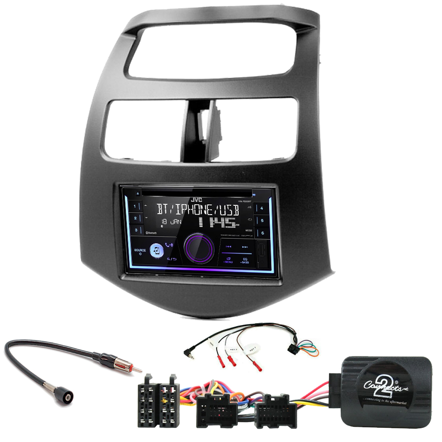 Kit d\'intégration Chevrolet Spark de 2010 à 2015 + Autoradio multimédia USB/Bluetooth