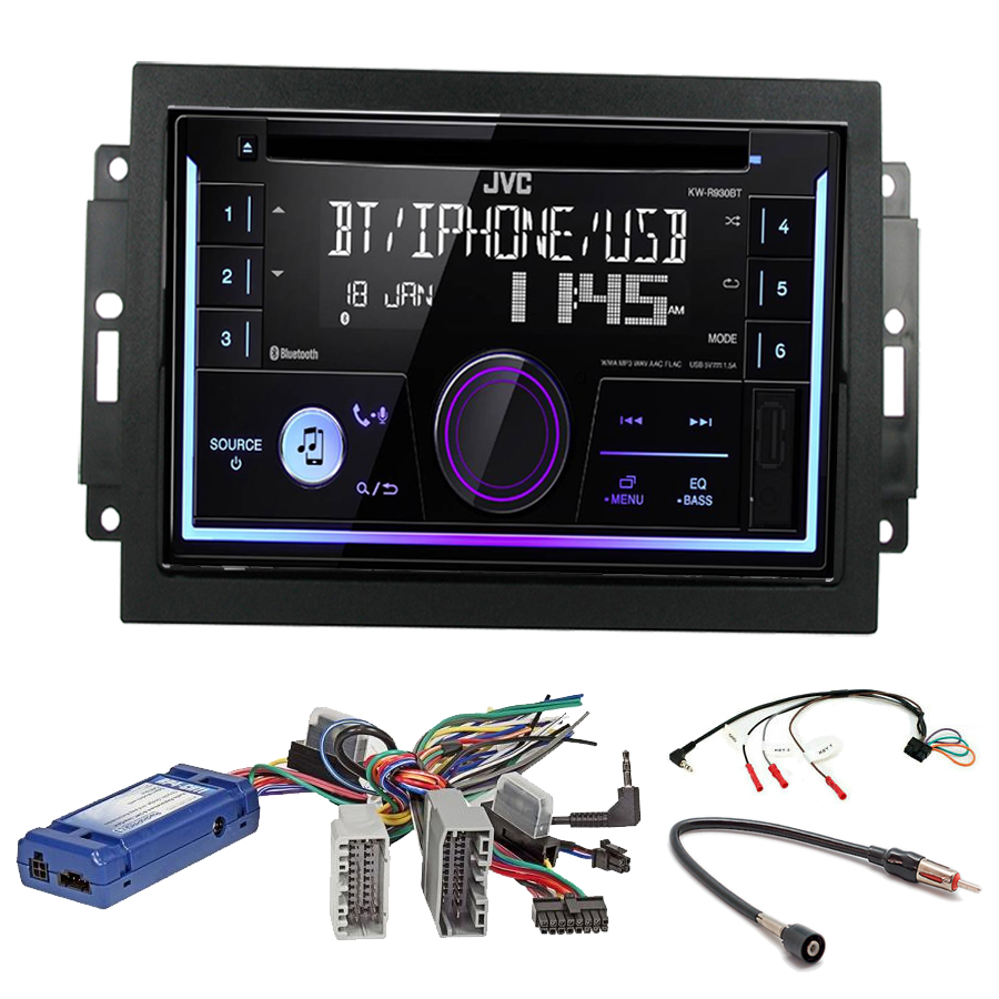Kit d\'intégration Jeep Grand Cherokee, Commander et Compass + Autoradio multimédia USB/Bluetooth