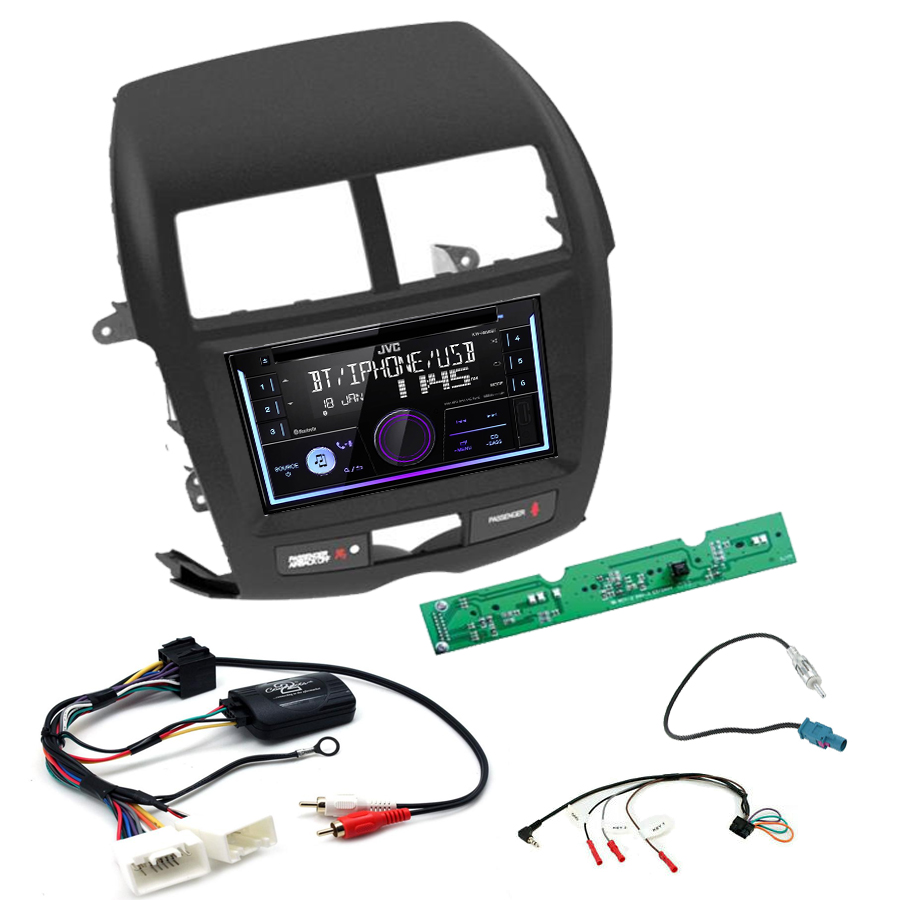 Kit d\'intégration Mitsubishi ASX de 2010 à 2019 + Autoradio multimédia USB/Bluetooth