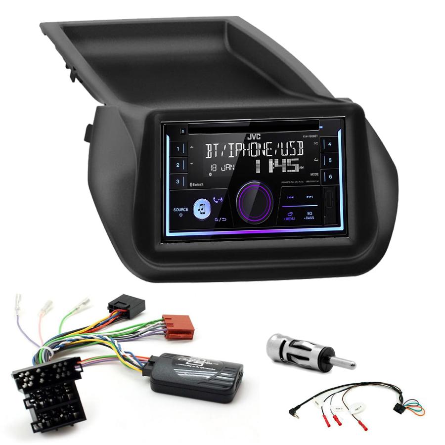 Kit d\'intégration Fiat Fiorino et Qubo + Autoradio multimédia USB/Bluetooth