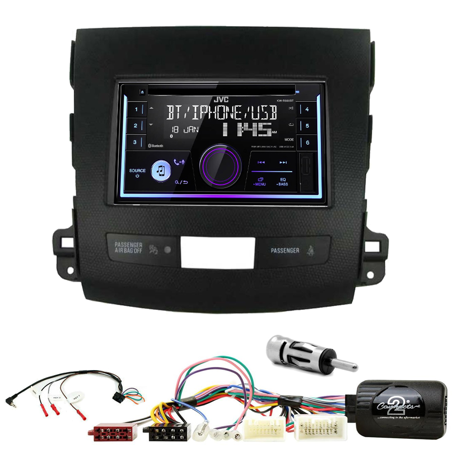 Kit d\'intégration Mitsubishi Outlander de 2006 à 2012 + Autoradio multimédia USB/Bluetooth