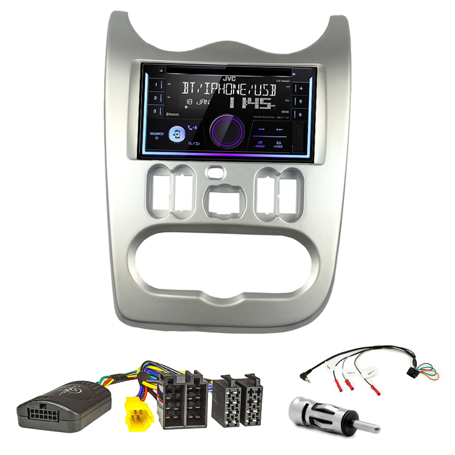 Kit d\'intégration Dacia Duster, Logan et Sandero de 2010 à 2012 + Autoradio multimédia USB/Bluetooth