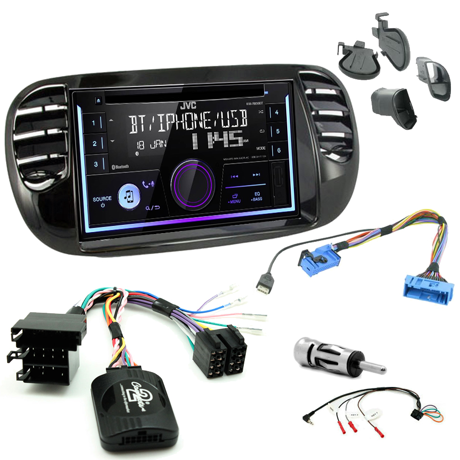 Kit d\'intégration Fiat 500 de 2007 à 2015 + Autoradio multimédia USB/Bluetooth