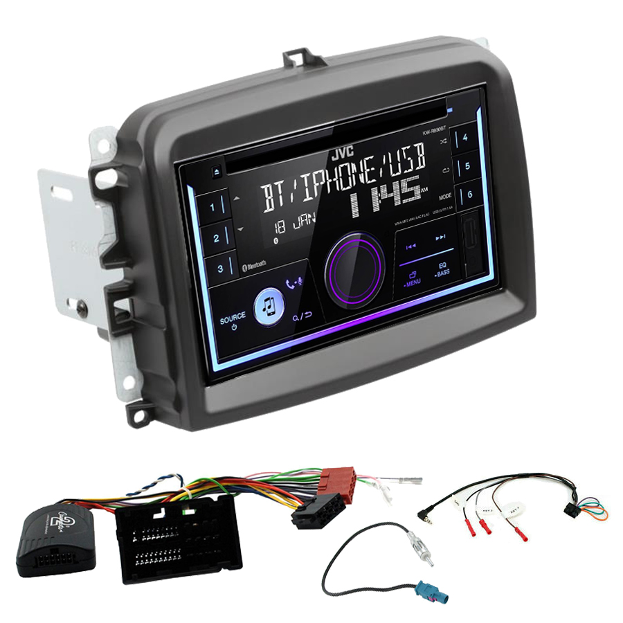 Kit d\'intégration Fiat 500L + Autoradio multimédia USB/Bluetooth