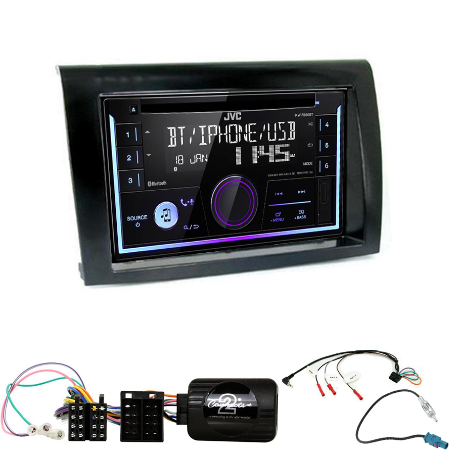 Kit d\'intégration Fiat Bravo + Autoradio multimédia USB/Bluetooth