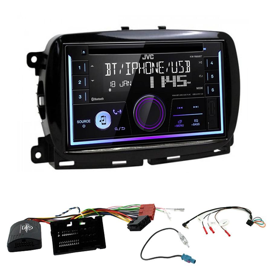Kit d\'intégration Fiat 500 depuis 2016 + Autoradio multimédia USB/Bluetooth