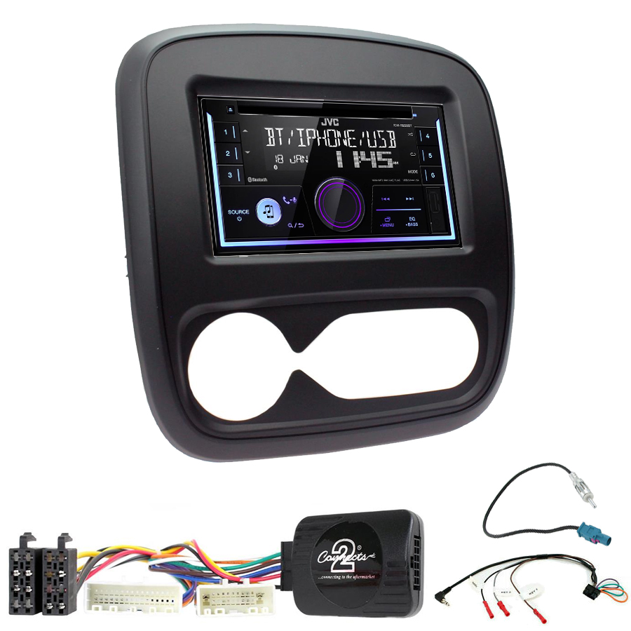 Kit d\'intégration Fiat Talento + Autoradio multimédia USB/Bluetooth