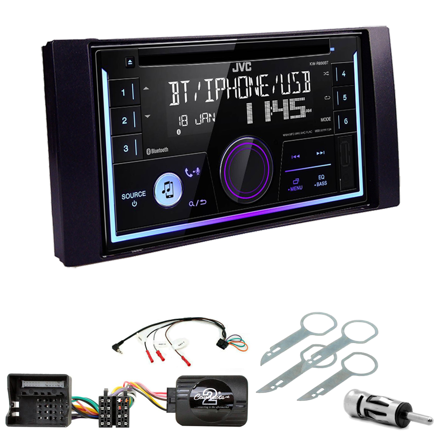 Kit d\'intégration Ford C-Max, Kuga, Focus, Fiesta, Fusion, Transit, S-Max + Autoradio multimédia USB/Bluetooth