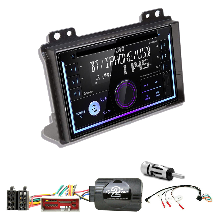 Kit d\'intégration Ford Fusion et Fiesta de 2002 à 2005 + Autoradio multimédia USB/Bluetooth