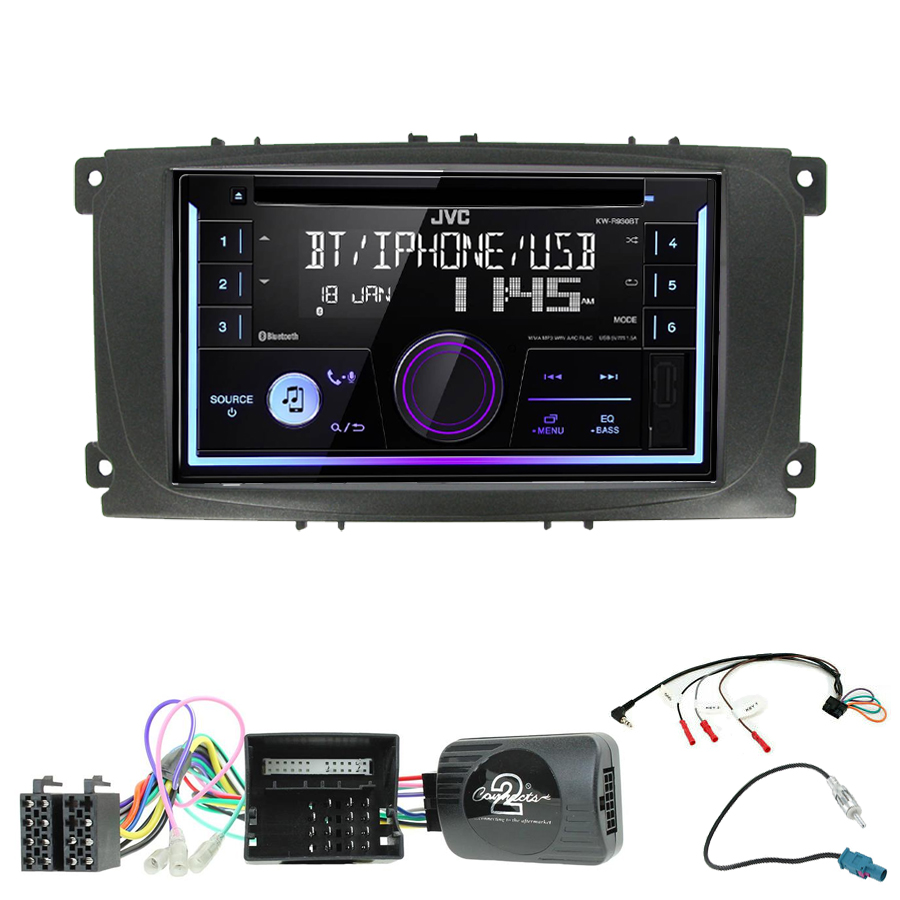 Kit d\'intégration Ford Galaxy, Mondeo et S-Max de 2007 à 2014 + Autoradio multimédia USB/Bluetooth