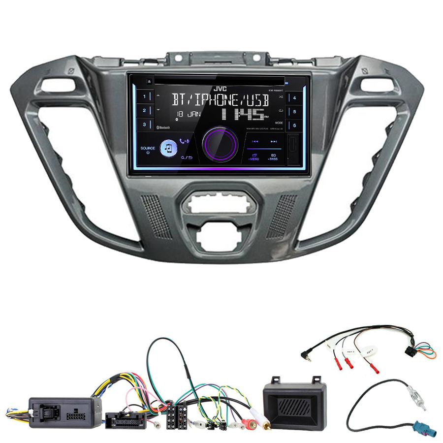 Kit d\'intégration Ford Transit Custom et Tourneo Custom + Autoradio multimédia USB/Bluetooth
