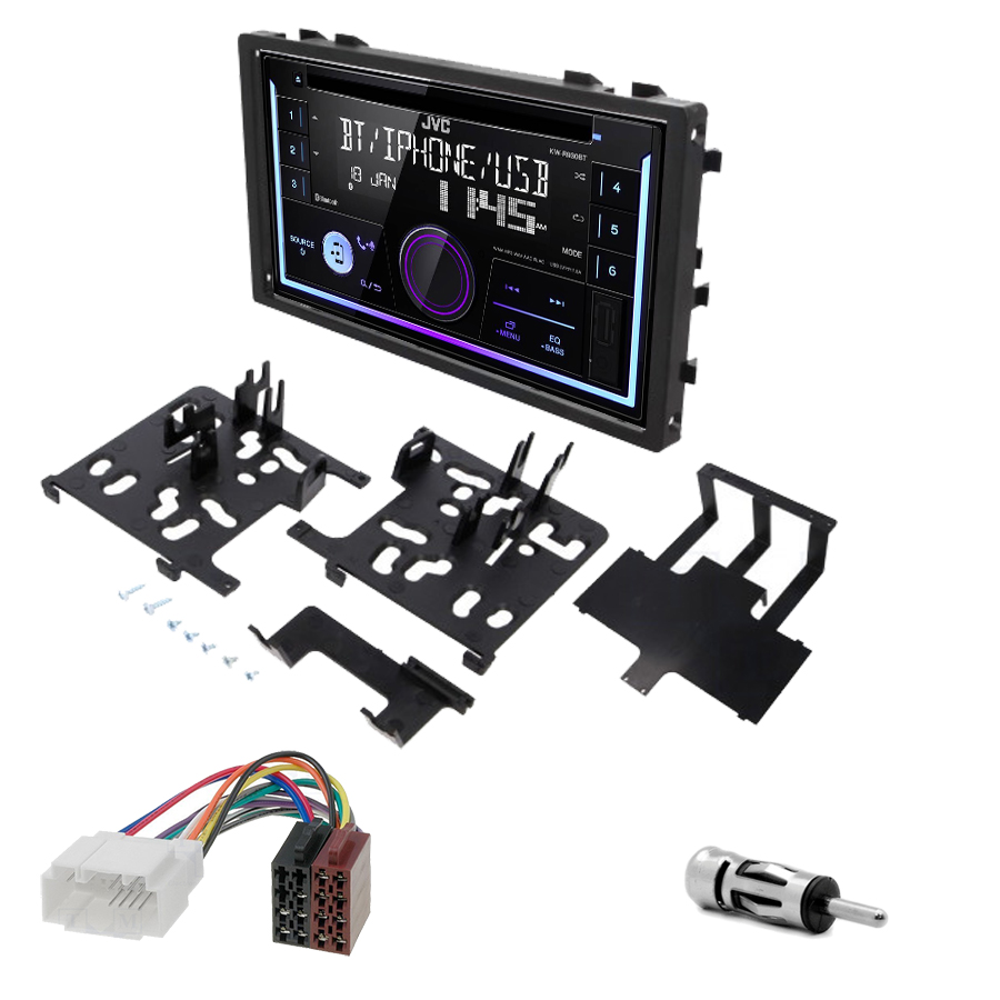 Kit d\'intégration Honda Accord Civic CR-V Odyssey et Prelude + Autoradio multimédia USB/Bluetooth