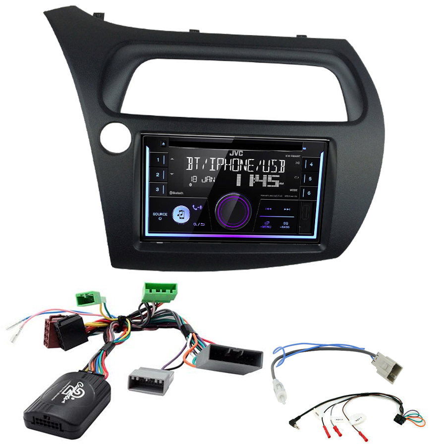 Kit d\'intégration Honda Civic de 2006 à 2011 + Autoradio multimédia USB/Bluetooth