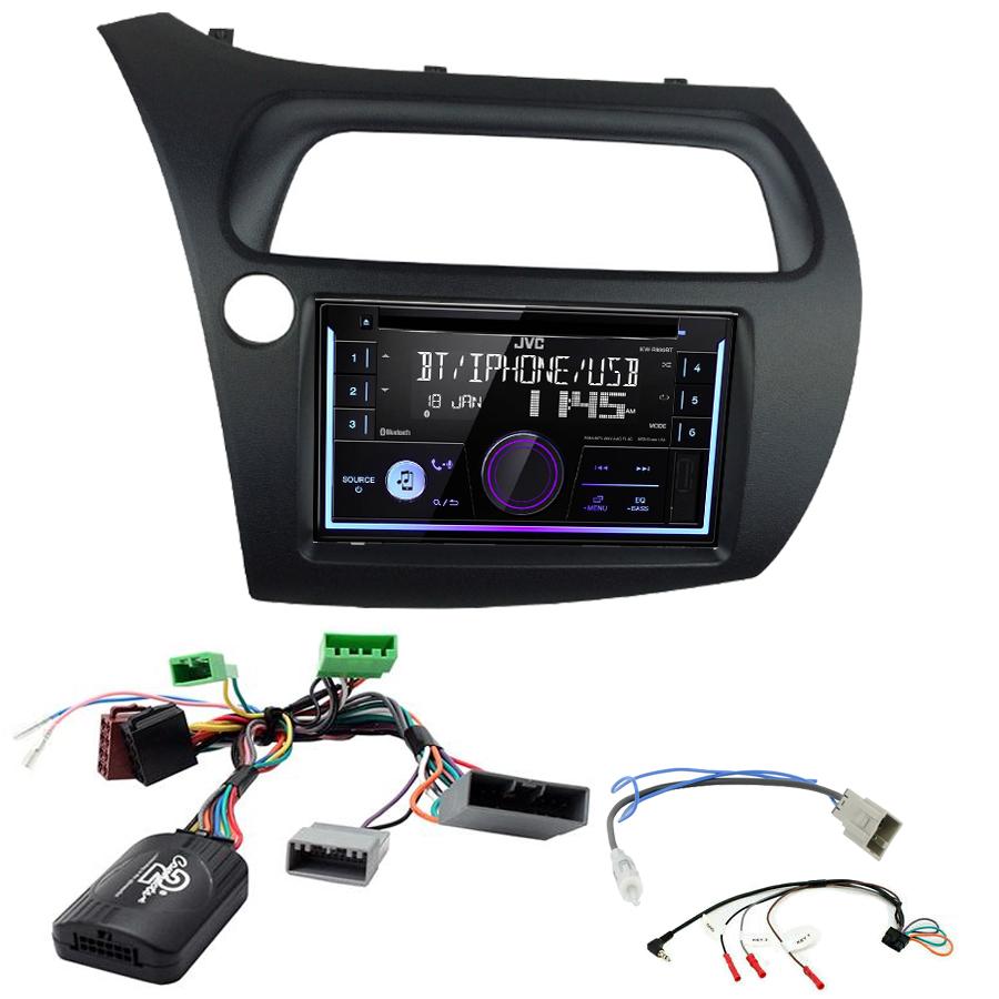 Kit d\'intégration Honda Civic de 2006 à 2011 + Autoradio multimédia USB/Bluetooth