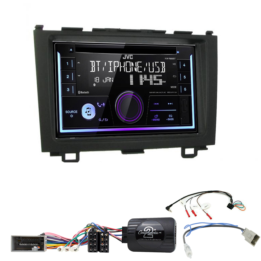 Kit d\'intégration Honda CR-V de 2006 à 2012 + Autoradio multimédia USB/Bluetooth
