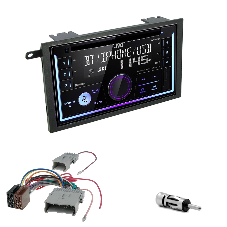 Kit d\'intégration Hummer H2 de 2003 à 2007 + Autoradio multimédia USB/Bluetooth