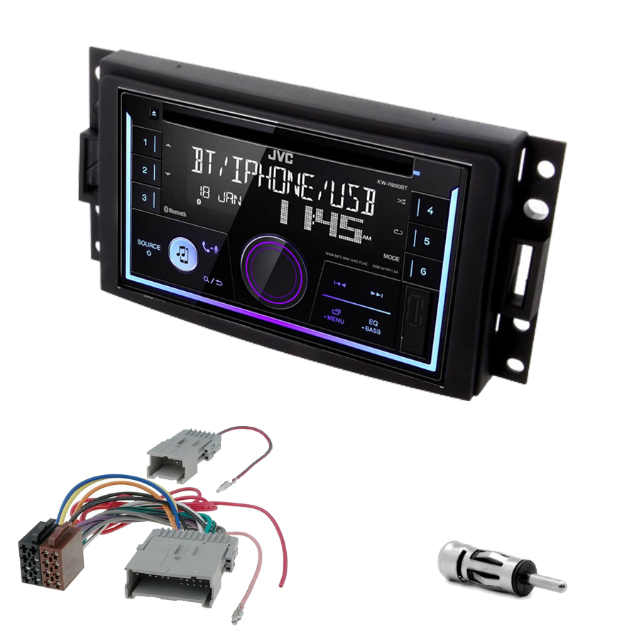 Kit d\'intégration Hummer H3 de 2005 à 2008 + Autoradio multimédia USB/Bluetooth