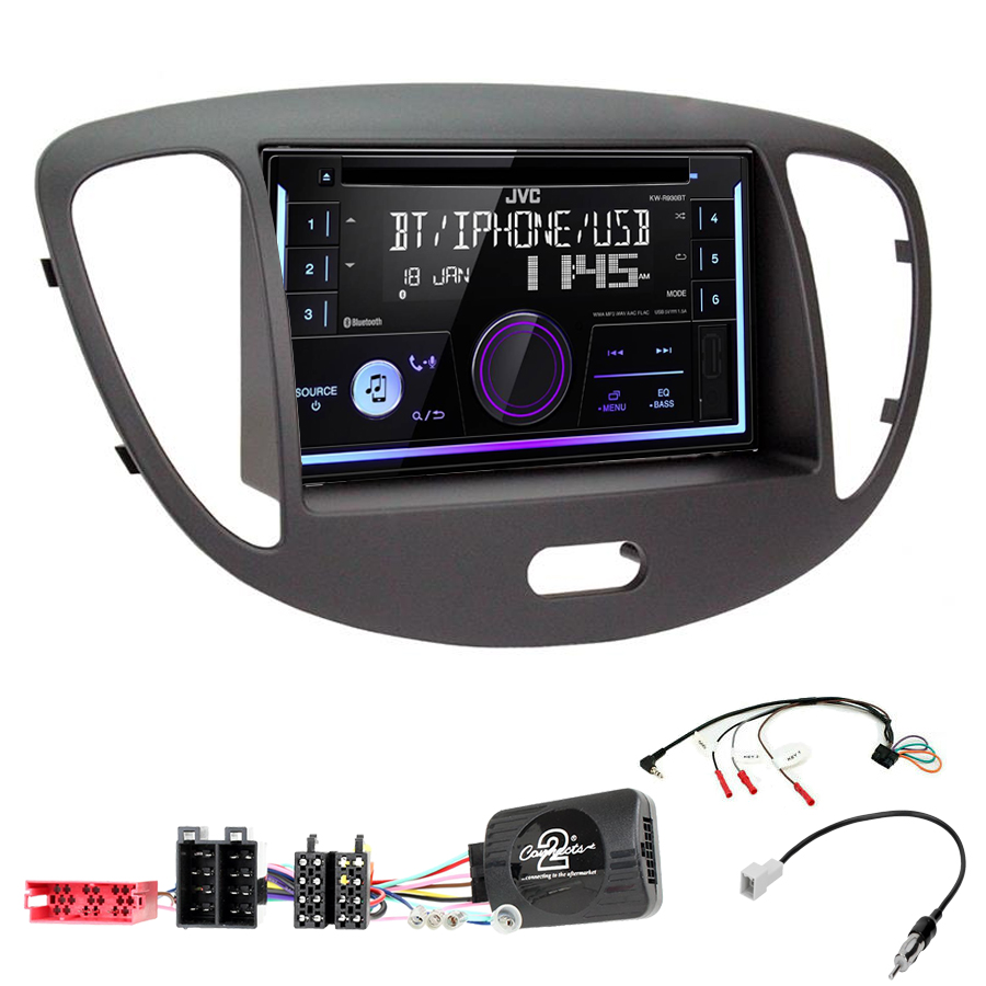 Kit d\'intégration Hyundai i10 de 2008 à 2013 + Autoradio multimédia USB/Bluetooth