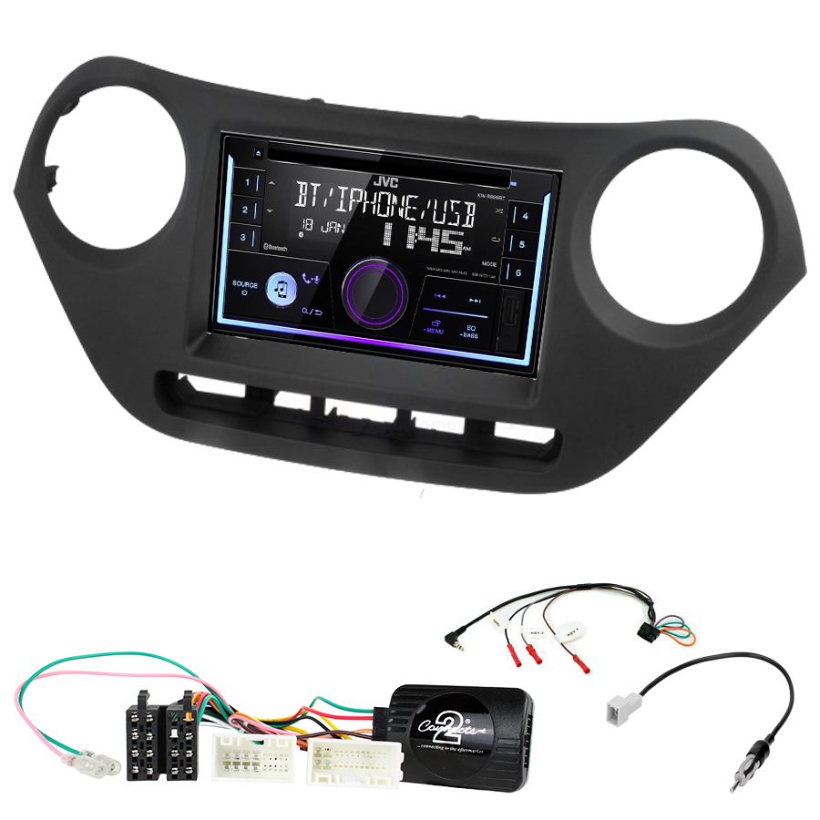 Kit d\'intégration Hyundai i10 de 2014 à 2019 + Autoradio multimédia USB/Bluetooth