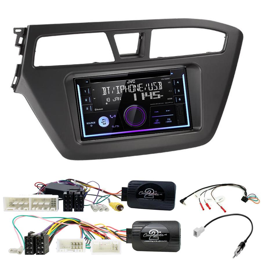 Kit d\'intégration Hyundai i20 de 2015 à 2020 + Autoradio multimédia USB/Bluetooth