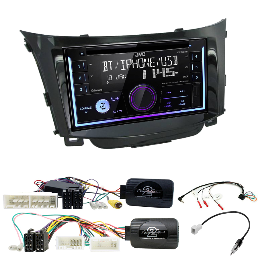 Kit d\'intégration Hyundai i30 de 2012 à 2017 + Autoradio multimédia USB/Bluetooth
