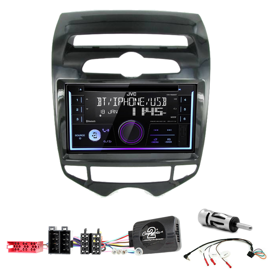 Kit d\'intégration Hyundai IX20 de 2010 à 2015 + Autoradio multimédia USB/Bluetooth
