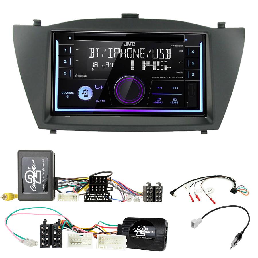 Kit d\'intégration Hyundai IX35 de 2010 à 2015 + Autoradio multimédia USB/Bluetooth