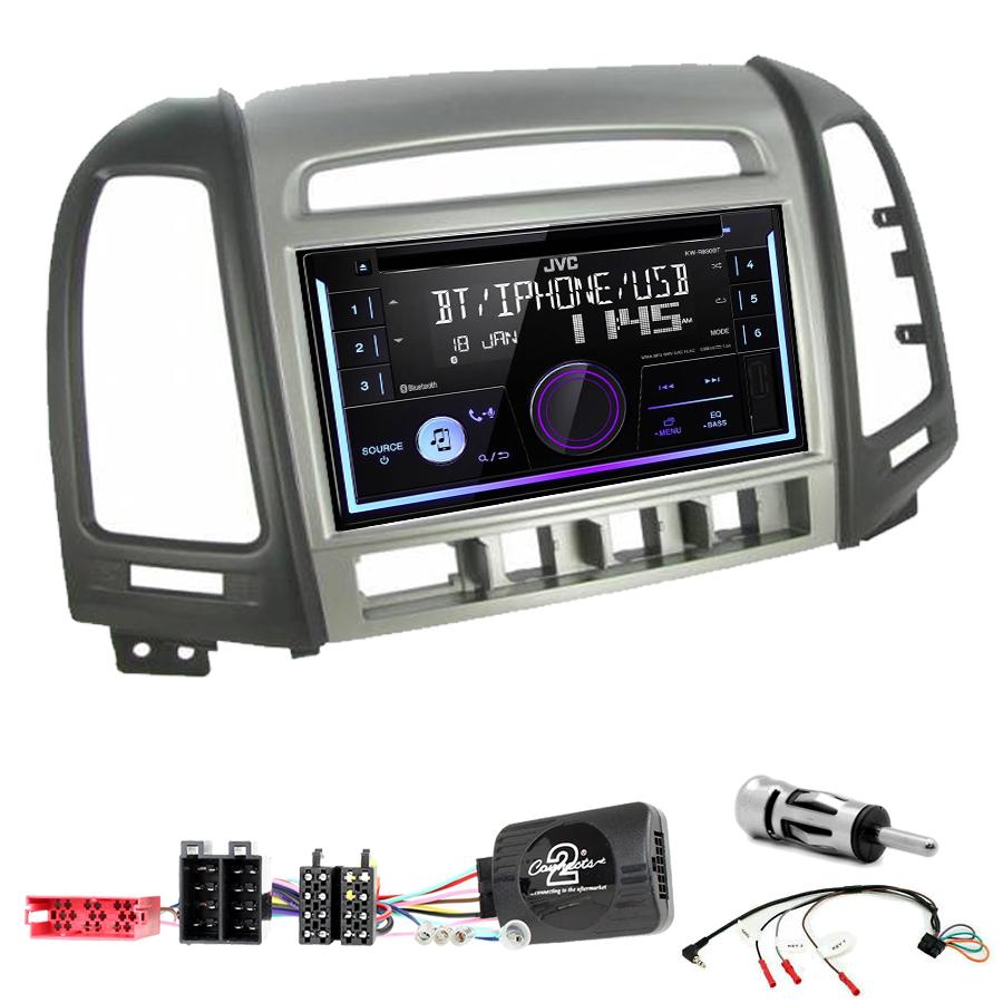Kit d\'intégration Hyundai Santa Fe de 2006 à 2012 + Autoradio multimédia USB/Bluetooth