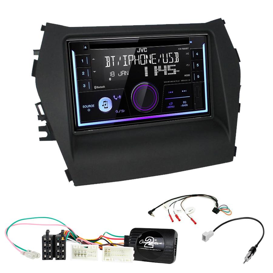 Kit d\'intégration Hyundai Santa Fe de 2013 à 2018 + Autoradio multimédia USB/Bluetooth