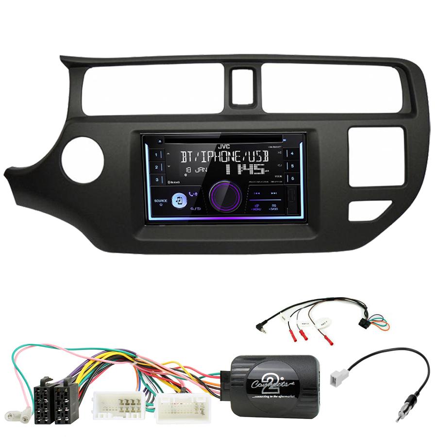 Kit d\'intégration Kia Rio de 9/2011 à 03/2015 + Autoradio multimédia USB/Bluetooth