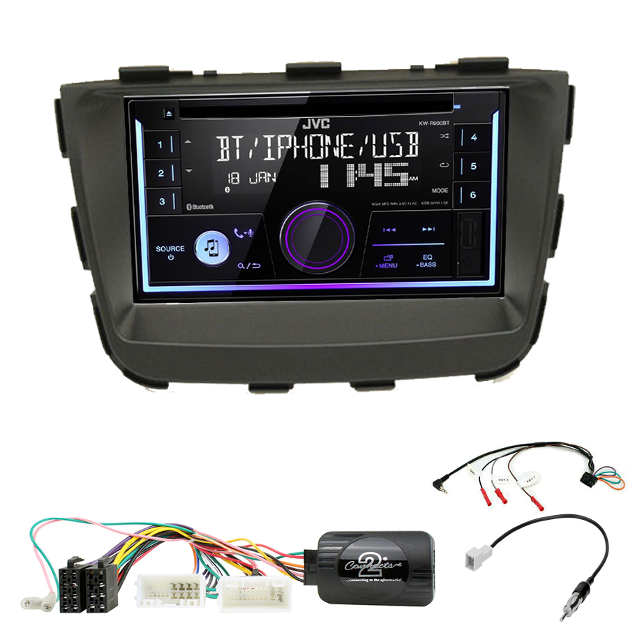 Kit d\'intégration Kia Sorento de 10/2012 à 02/2015 + Autoradio multimédia USB/Bluetooth