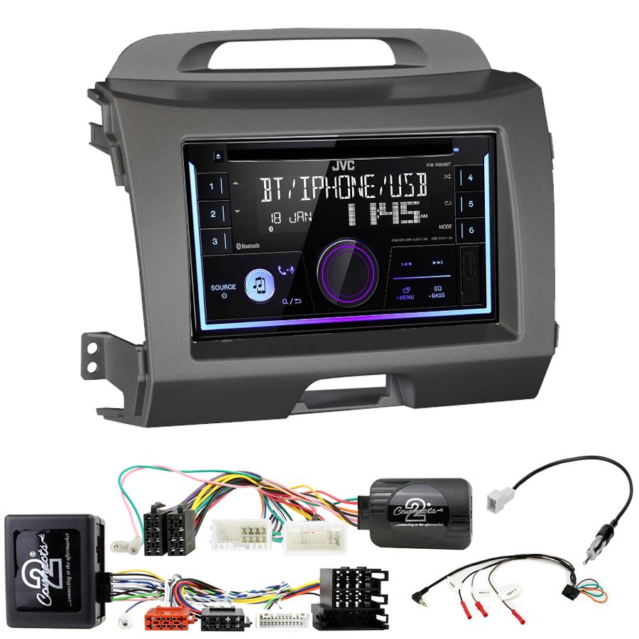 Kit d\'intégration Kia Sportage de 08/2010 à 2015 + Autoradio multimédia USB/Bluetooth