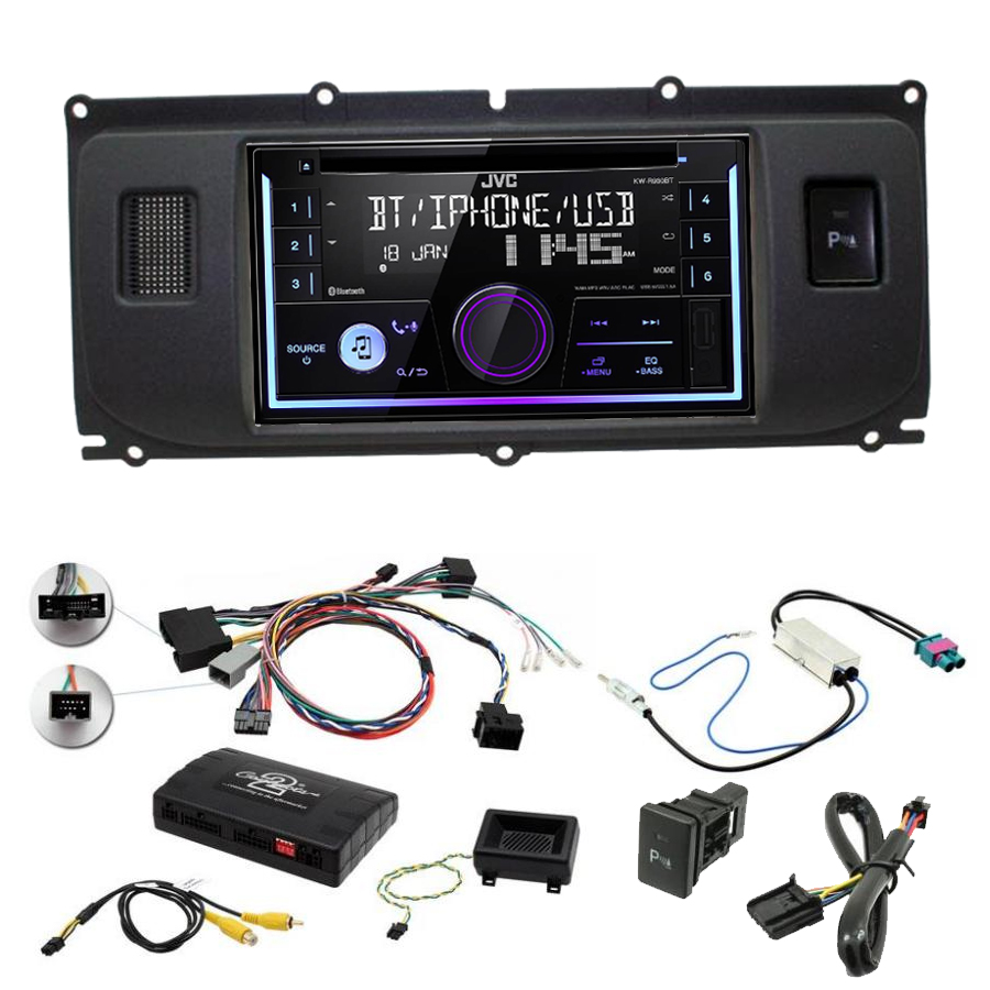 Kit d\'intégration Range Rover Evoque de 2011 à 2015 + Autoradio multimédia USB/Bluetooth