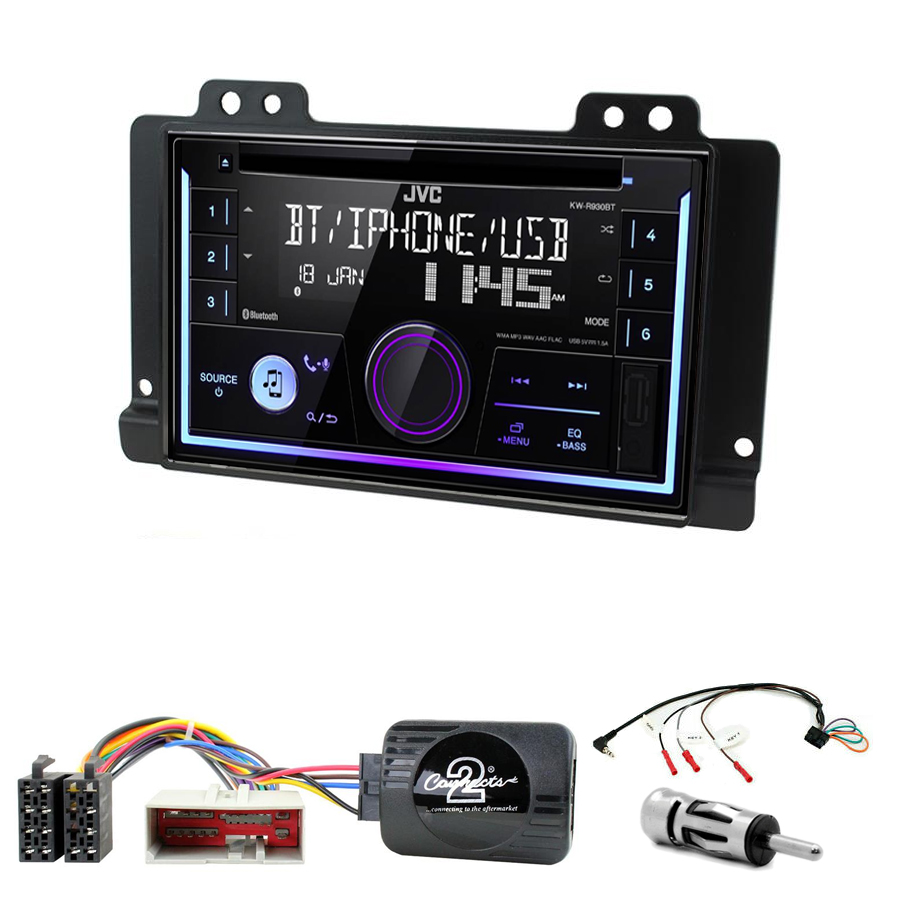 Kit d\'intégration Land Rover Freelander de 2004 à 2006 + Autoradio multimédia USB/Bluetooth