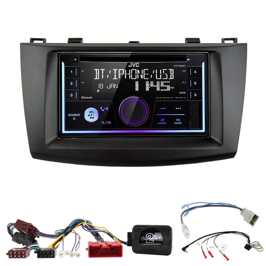 Kit d\'intégration Mazda 3 de 2009 à 10/2013 + Autoradio multimédia USB/Bluetooth