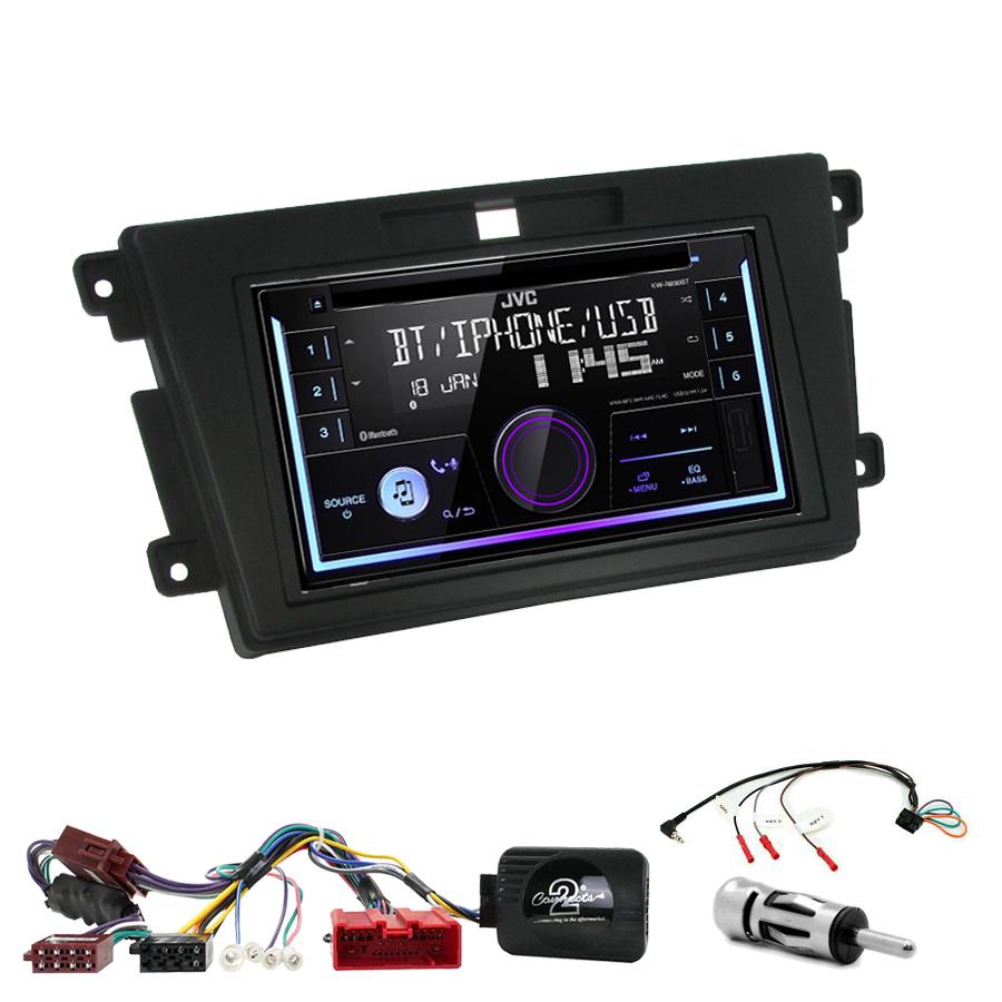 Kit d\'intégration Mazda CX-7 de 2007 à 2012 + Autoradio multimédia USB/Bluetooth