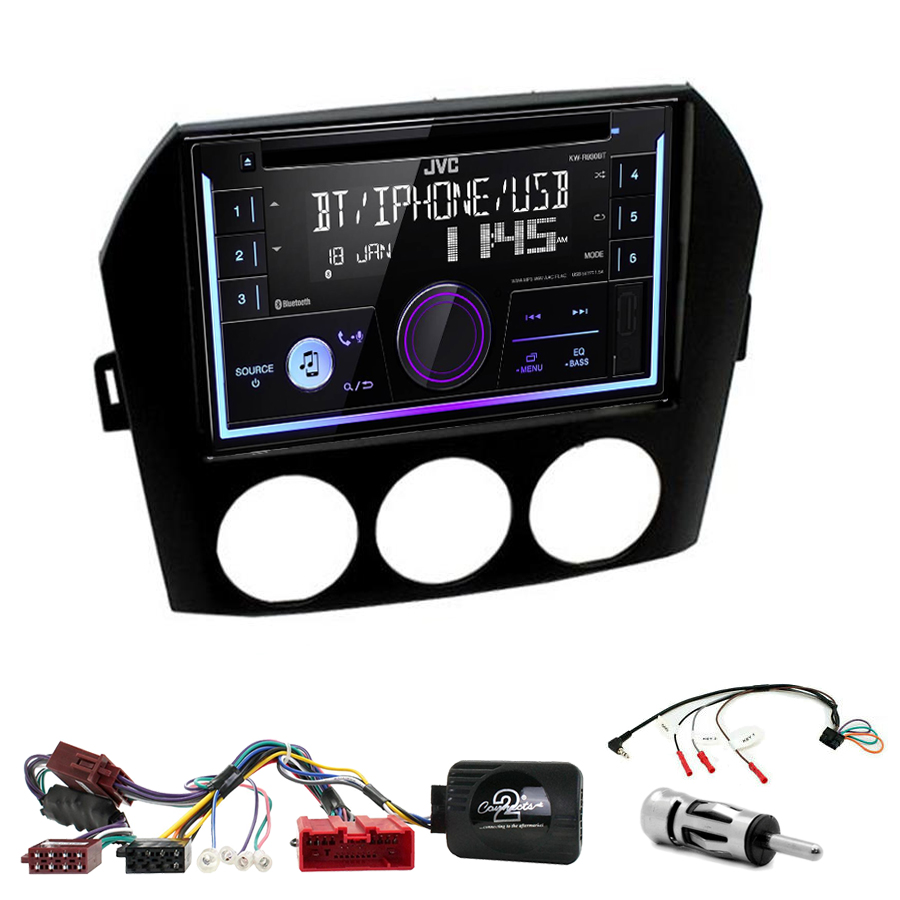 Kit d\'intégration Mazda MX-5 de 2005 à 2015 + Autoradio multimédia USB/Bluetooth