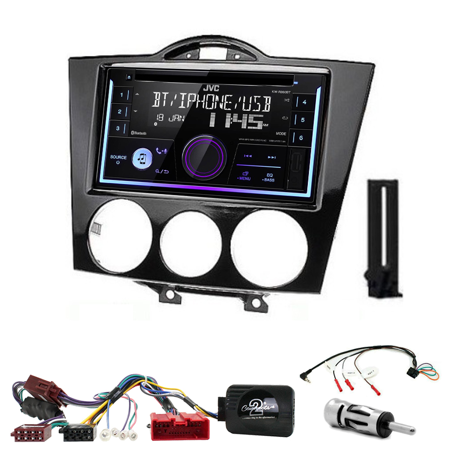Kit d\'intégration Mazda RX-8 de 2004 à 2008 + Autoradio multimédia USB/Bluetooth