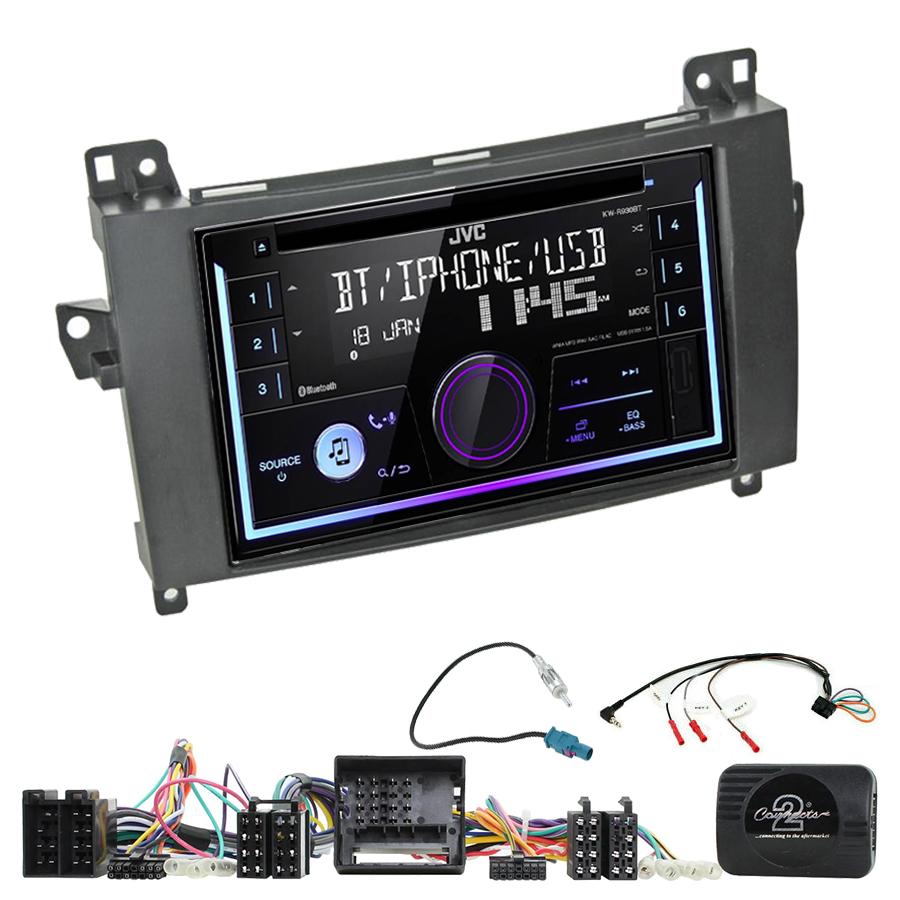 Kit d\'intégration Mercedes Classe A, Classe B, Viano et Vito + Autoradio multimédia USB/Bluetooth