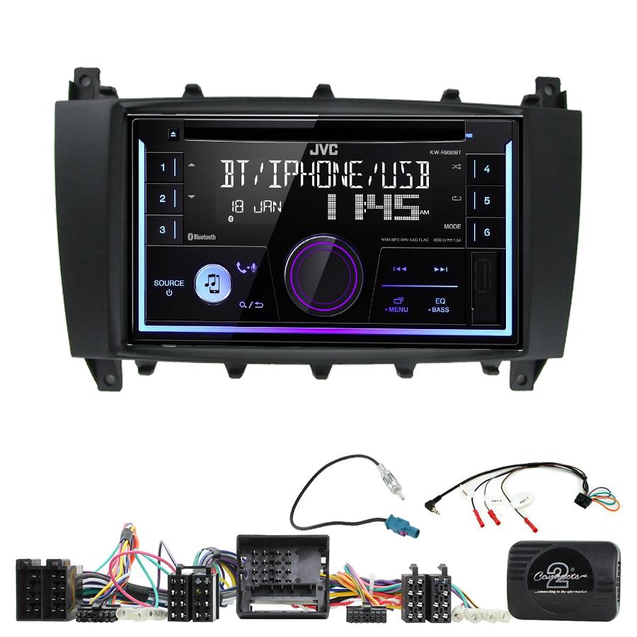 Kit d\'intégration Mercedes Classe C W203 et Mercedes CLC + Autoradio multimédia USB/Bluetooth
