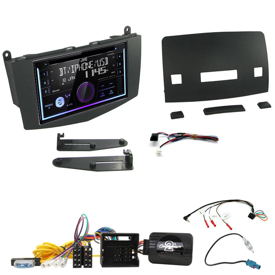 Kit d\'intégration Mercedes Classe C W204 de 03/2007 à 02/2011 + Autoradio multimédia USB/Bluetooth