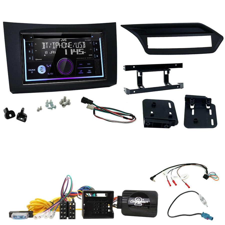 Kit d\'intégration Mercedes Classe E de 2009 à 2012 + Autoradio multimédia USB/Bluetooth