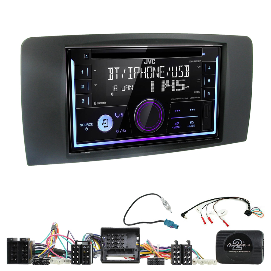Kit d\'intégration Mercedes Classe R de 2006 à 2013 + Autoradio multimédia USB/Bluetooth